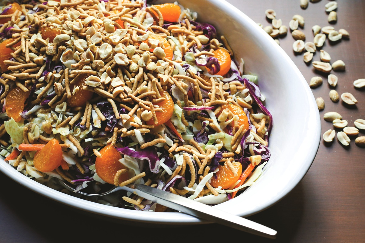Asian Peanut Slaw
