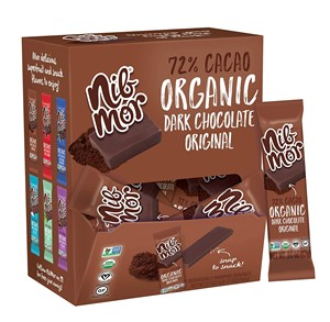 Nibmor Organic Dark Chocolate Bars and Pieces Reviews and Info (Dairy-Free, Vegan, Gluten-Free)