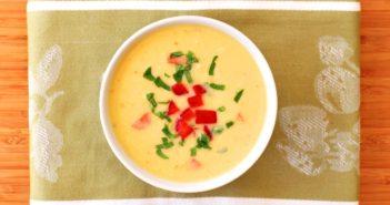 Dairy-Free Corn Soup - a fresh, creamy, healthy summer recipe (vegan, paleo)