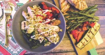 Grilled Veggie Bowls with Dairy-Free Cashew Ranch Dressing Recipe