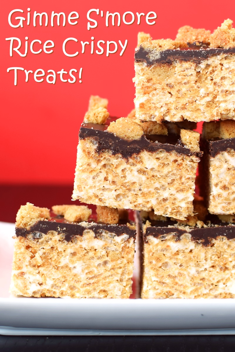 Smores Rice Crispy Treats Recipe - dairy-free, gluten-free, optionally vegan and delicious!