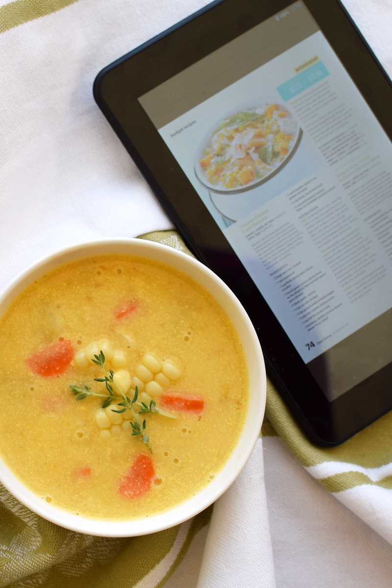 Dairy-Free Creamy Corn Soup inspired by the Texture App Free Trial (over 175 Magazines with Back Issues at your finger tips!)