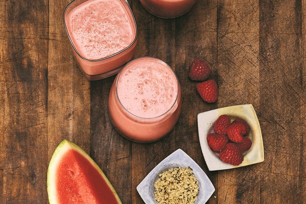 Red Raspberry Smoothie Recipe - dairy-free, vegan and filled with superfoods!