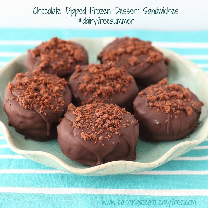 Coconut Milk Dairy Free Frozen Dessert Recipes - Vegan Gluten Free Chocolate Dipped Frozen Dessert Sandwiches (pictured)
