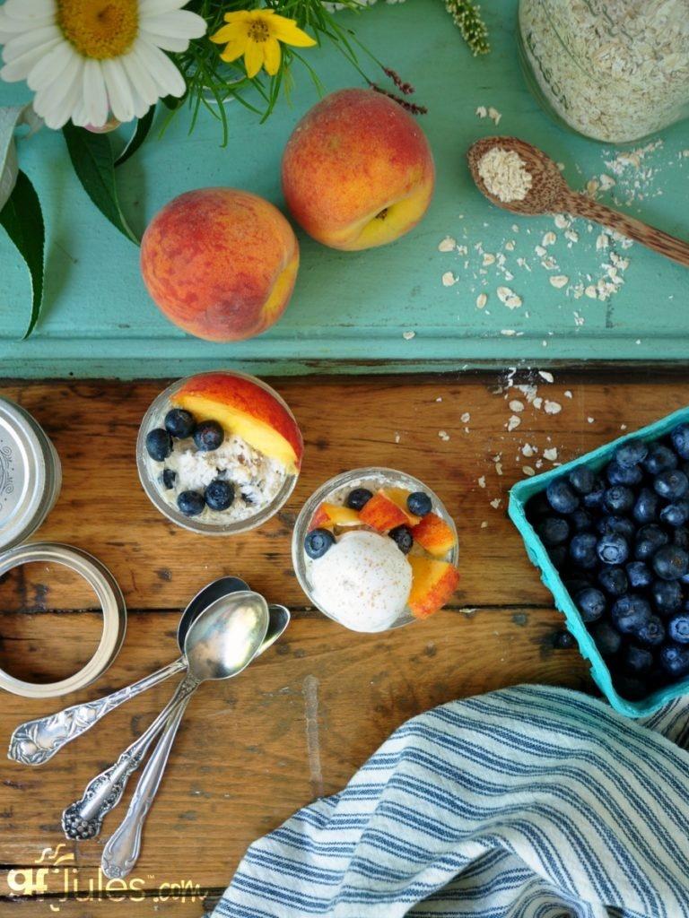 Cashew Milk Dairy Free Frozen Dessert Recipes - Vegan Gluten-Free Overnight Oats Dessert (pictured)