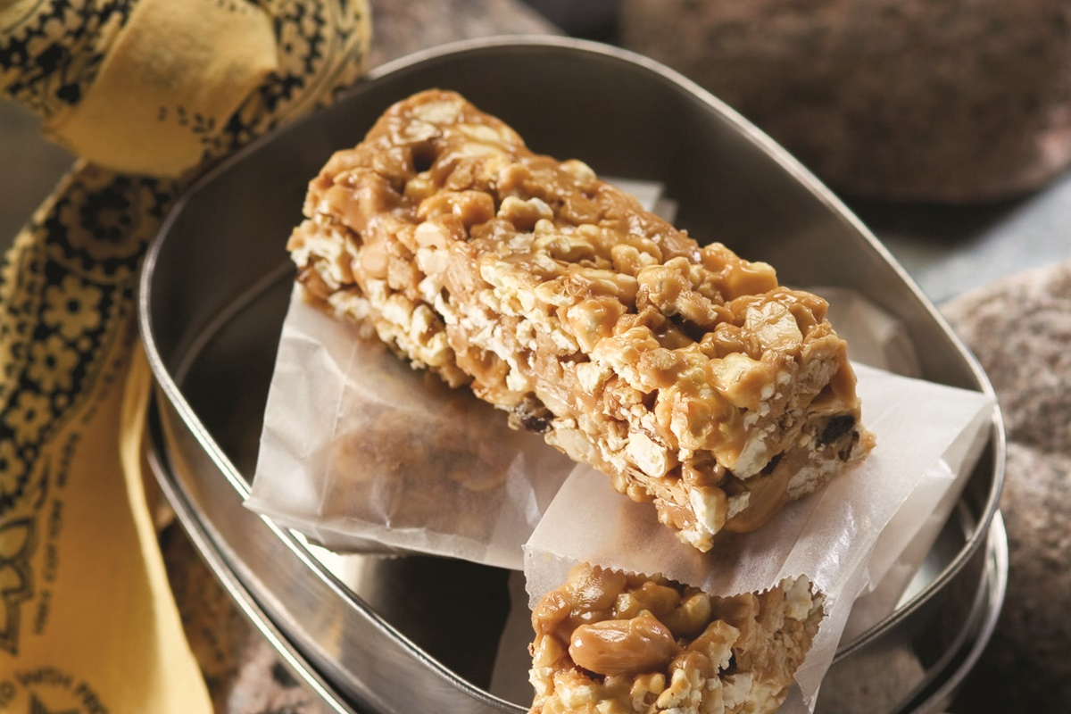 Peanut Butter Popcorn Granola Bars Recipe