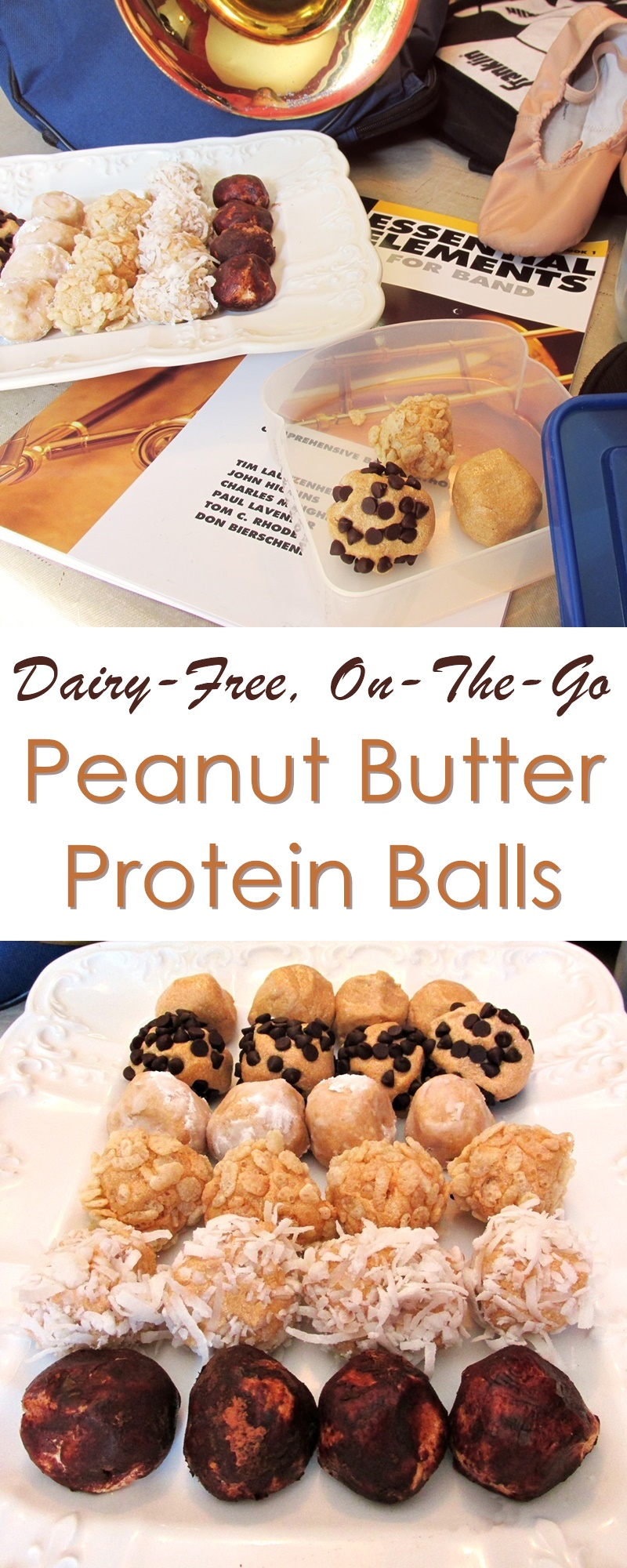 Dairy-Free Peanut Butter Protein Balls - an easy energy recipe for busy days!