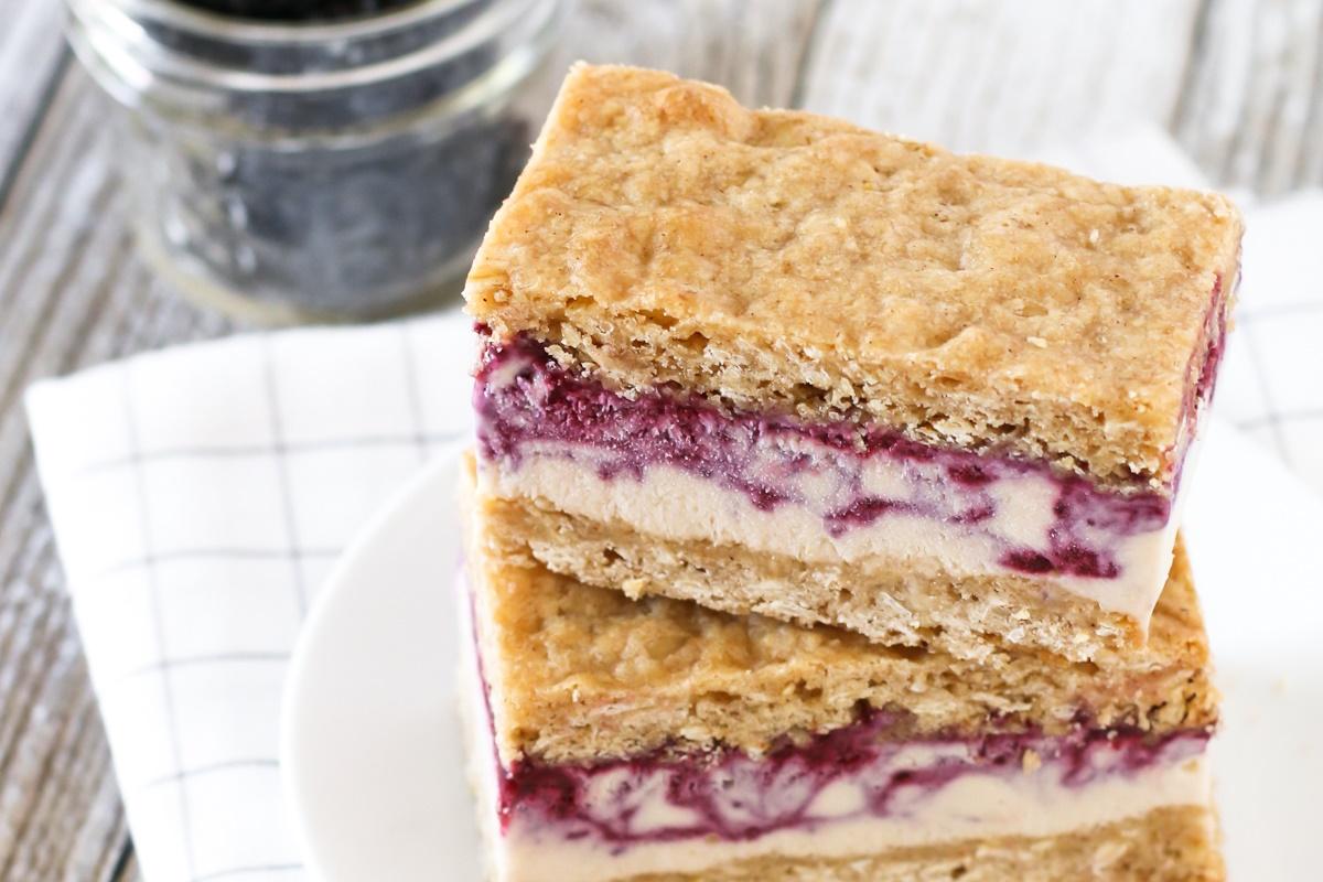 Blackberry Crisp Ice Cream Sandwiches - a Runner-Up Recipe Contest Winner (dairy-free, gluten-free and vegan)