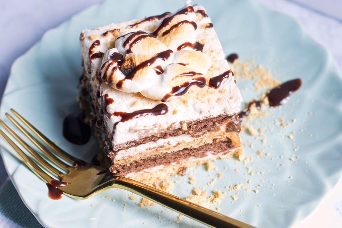 Vegan S'mores Icebox Cake - a recipe contest winner! (dairy-free; gluten-free optional)