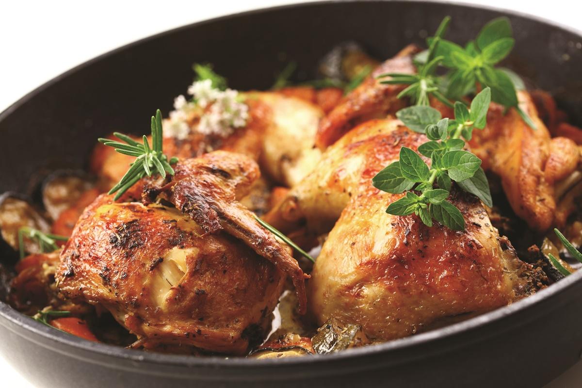 One-Pan Maple Dijon Chicken Dinner (Paleo Recipe)