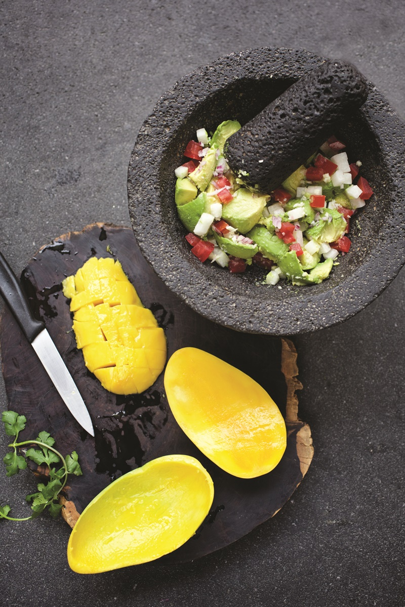 Mexican Mango Guacamole Recipe - created by a famed Mexico City Chef, this dip infuses mango, jicama and more