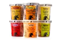 Sorbabes Gourmet Sorbet (all dairy-free) in amazing flavors like Dreamy Orange Passionfruit White Chocolate and Salted Caramel Pistachio