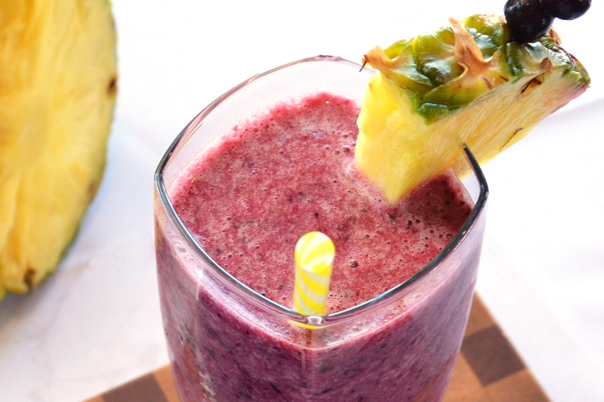 Blue Hawaiian Smoothie Recipe - a tropical dairy-free dream to enjoy all year! Plant-based & soy-free