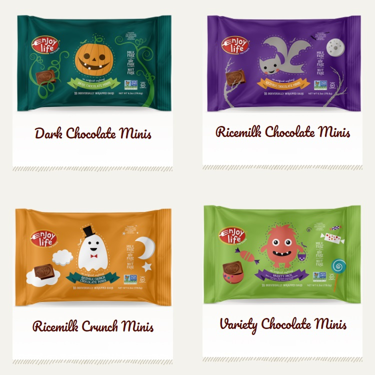 Round Up of Dairy-free Halloween Treats - Enjoy Life Minis Pictured