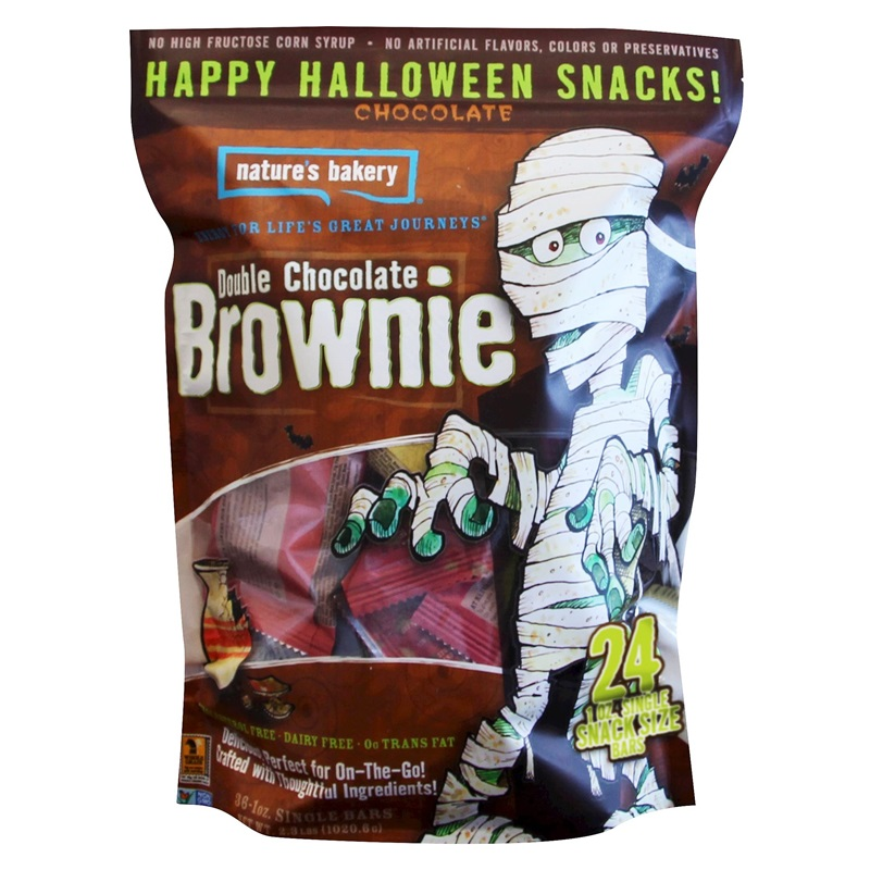 The Cutest + Tastiest Vegan and Dairy-Free Halloween Treats (Pictured - Nature's Bakery Halloween Brownie Bars)