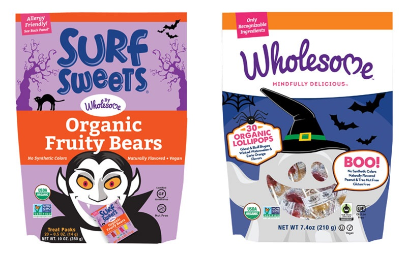 The Cutest + Tastiest Vegan and Dairy-Free Halloween Treats (Pictured - Surf Sweets and Wholesome)