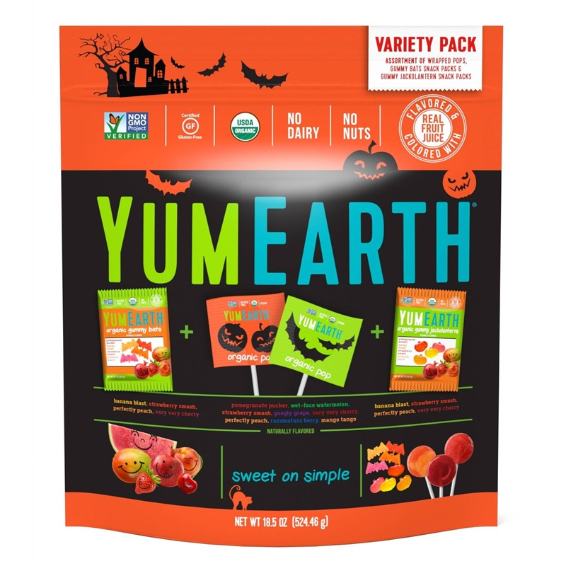 The Cutest + Tastiest Dairy-Free and Vegan Halloween Treats (Pictured - YumEarth Organic Halloween Candy)