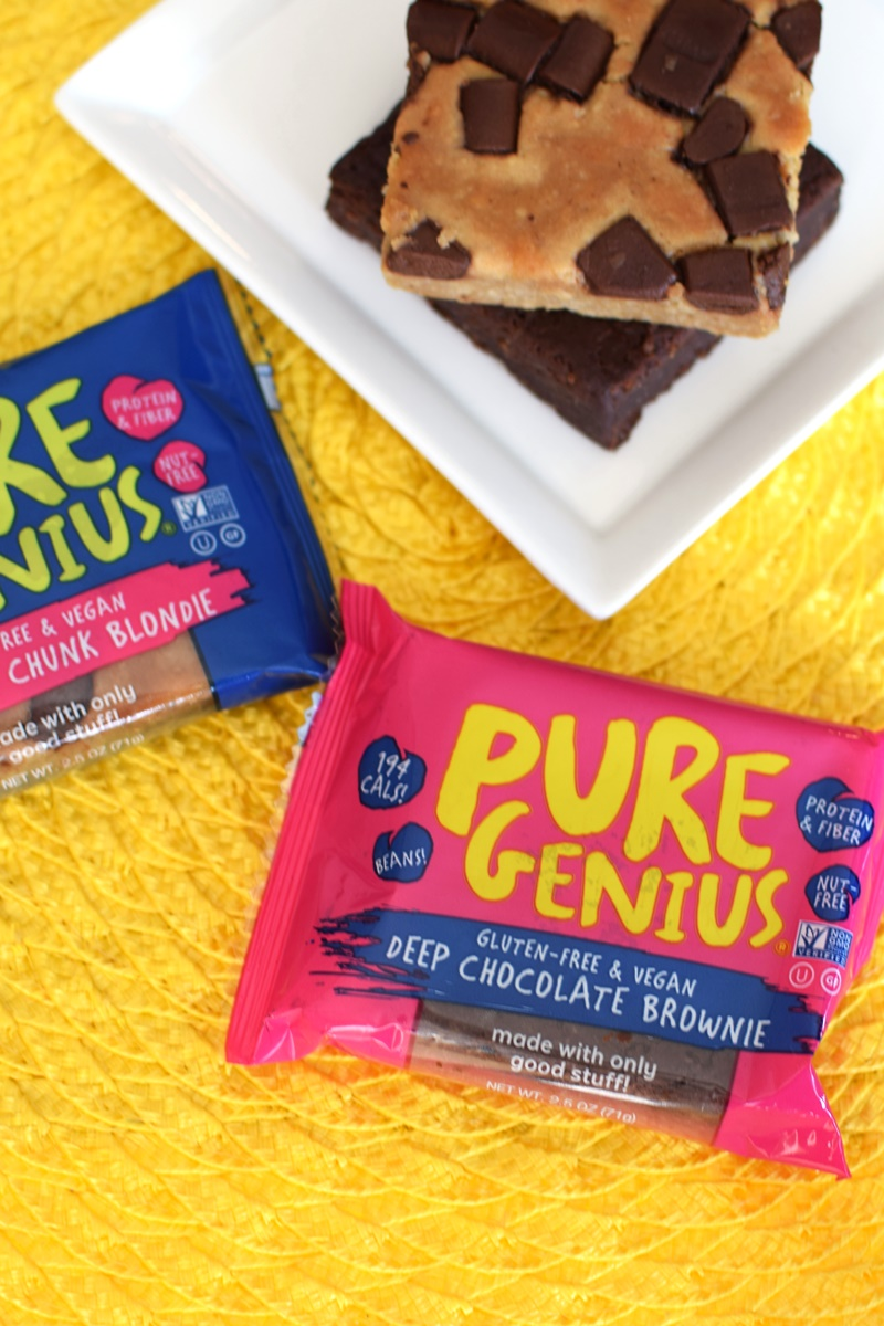Pure Genius Brownies and Blondies - healthy treat bars, vegan, gluten-free & nut-free!