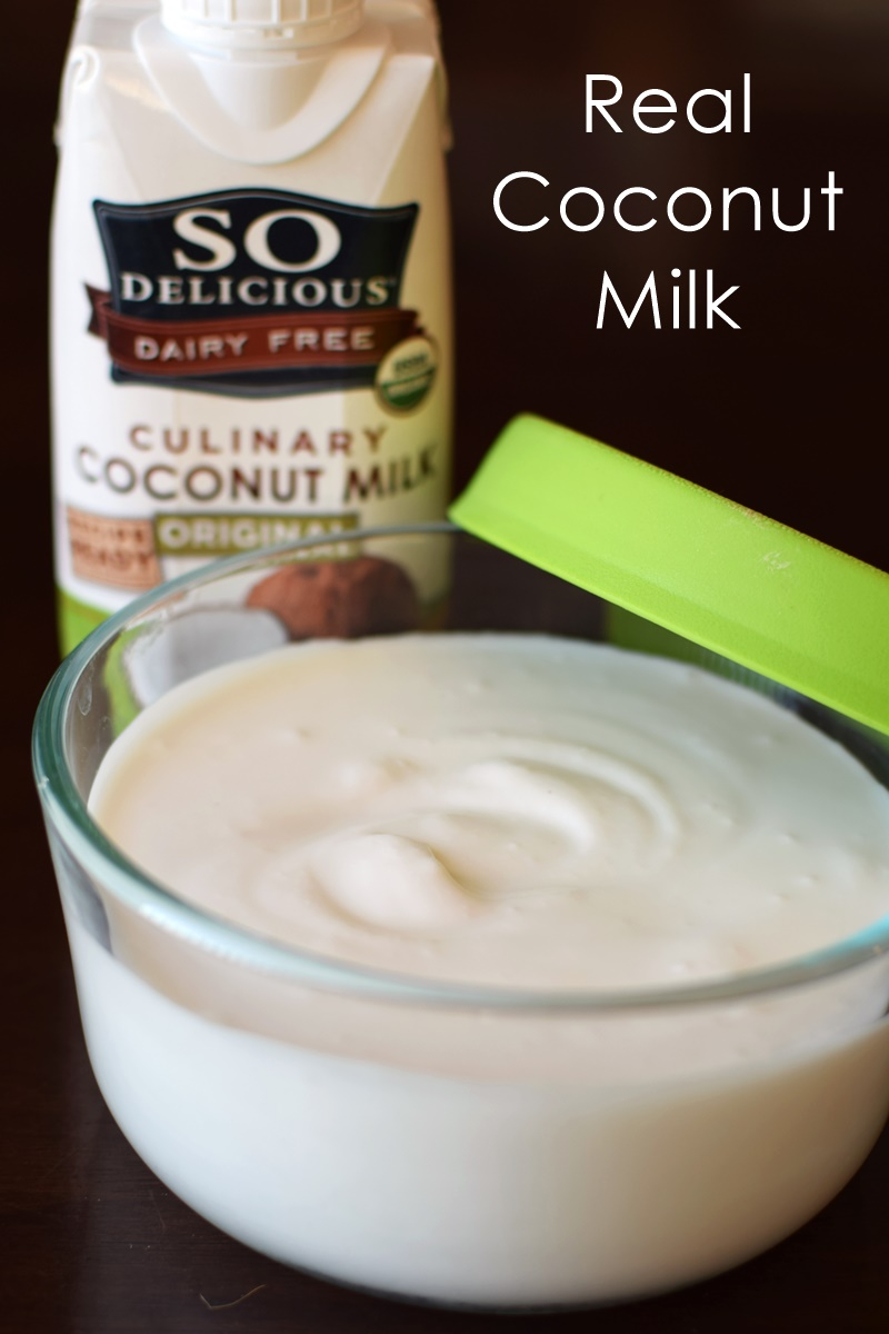 What real coconut milk looks like (full-fat, creamy)