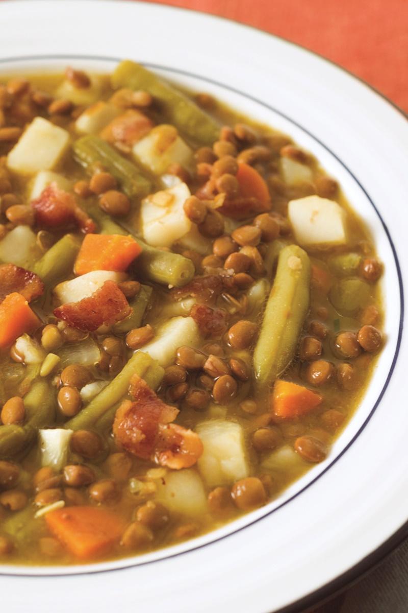 Everyday Bacon Lentil Soup Recipe (dairy-free, gluten-free, allergy-friendly + a vegan option)