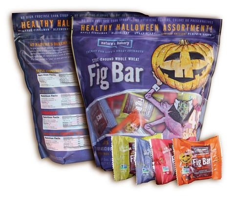 The Cutest Tastiest Dairy-Free and Vegan Halloween Treats (Pictured - Nature's Bakery Fig Bar Singles w/ Halloween motif)