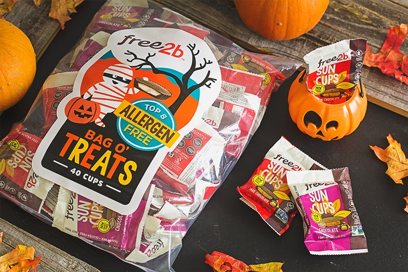The Cutest + Tastiest Dairy-Free and Vegan Halloween Treats (Pictured - free2b Suncups now top allergen-free!)