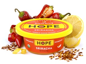 Sriracha Organic Hope Hummus + Vegan Sriracha Shells 'n Cheese Recipe