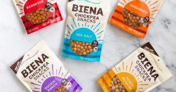 Biena Chickpea Snacks Reviews and Info (Dairy-Free Varieties) - Crispy roasted chickpeas with flavorful seasonings. Plant-based, gluten-free.