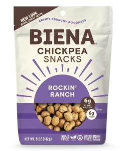 Biena Chickpea Snacks Reviews and Info (Dairy-Free Varieties) - Crispy roasted chickpeas with flavorful seasonings. Plant-based, gluten-free.