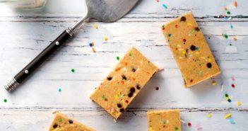 Dairy-Free Cake Batter Protein Bars Recipe - vegan, soy-free, gluten-free breakfast bars or post-workout reward