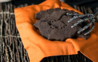 Vegan Chocolate Graham Crackers Recipe (pictured in Creepy Cat and Bat shapes for Halloween!)