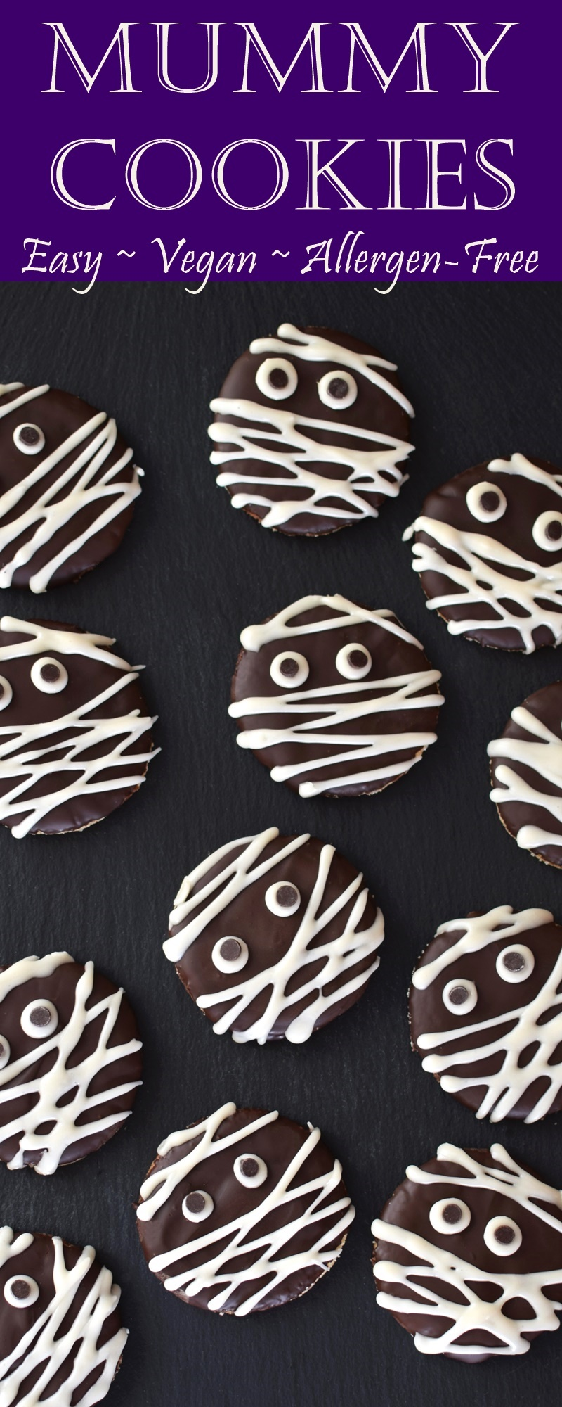 Mummy Cookies Recipe - Super Easy! Made dairy-free, gluten-free, vegan & allergy-friendly