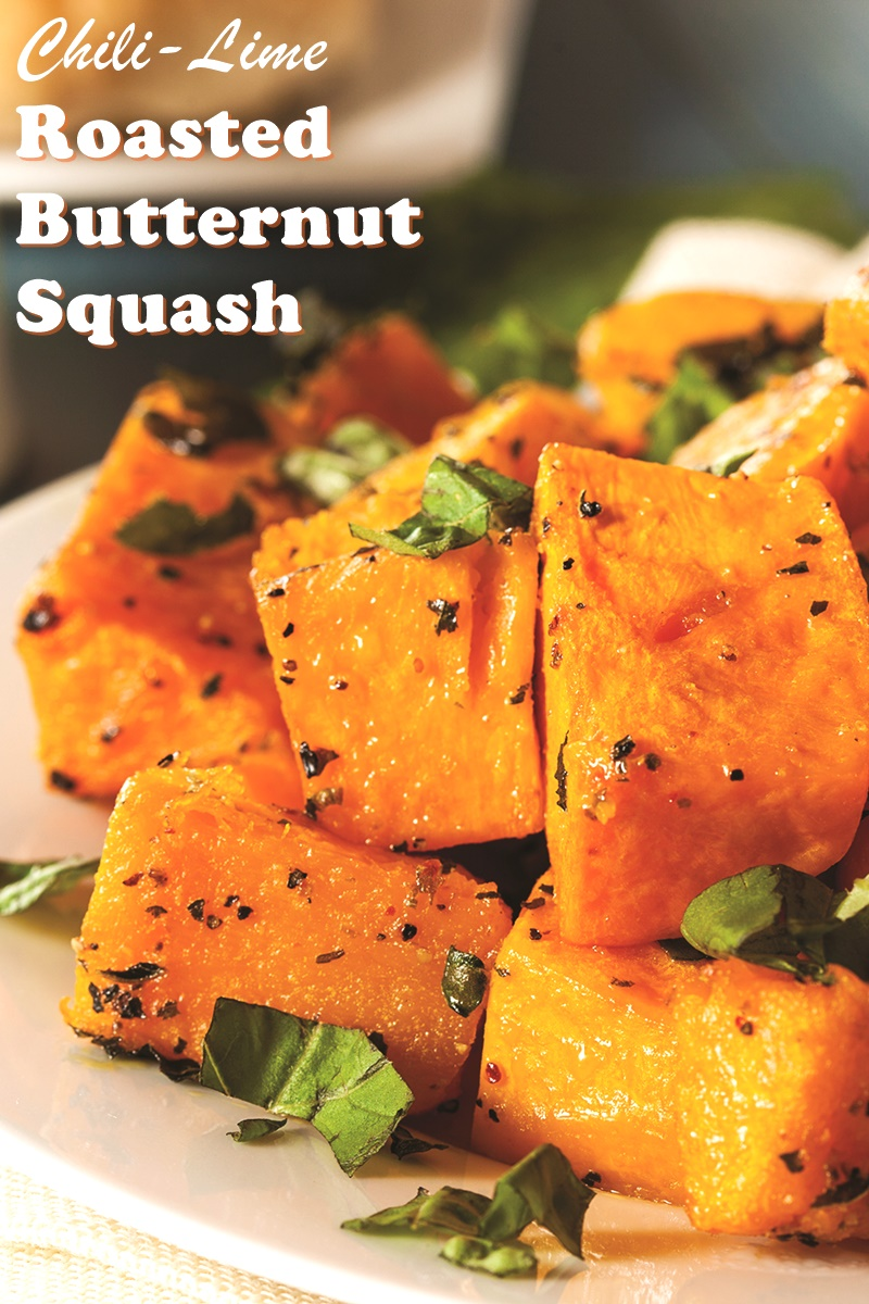 Chili Lime Roasted Butternut Squash Recipe (Dairy-Free)