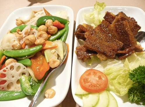 Grasshopper in Allston, MA is an all vegan restaurant offering up modern interpretations of classic Chinese dishes.