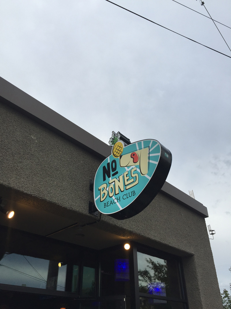 No Bones Beach Club - The first ever plant based tiki bar now located in Seattle, WA and is offering up fresh cocktails and unique coastal inspired meals!
