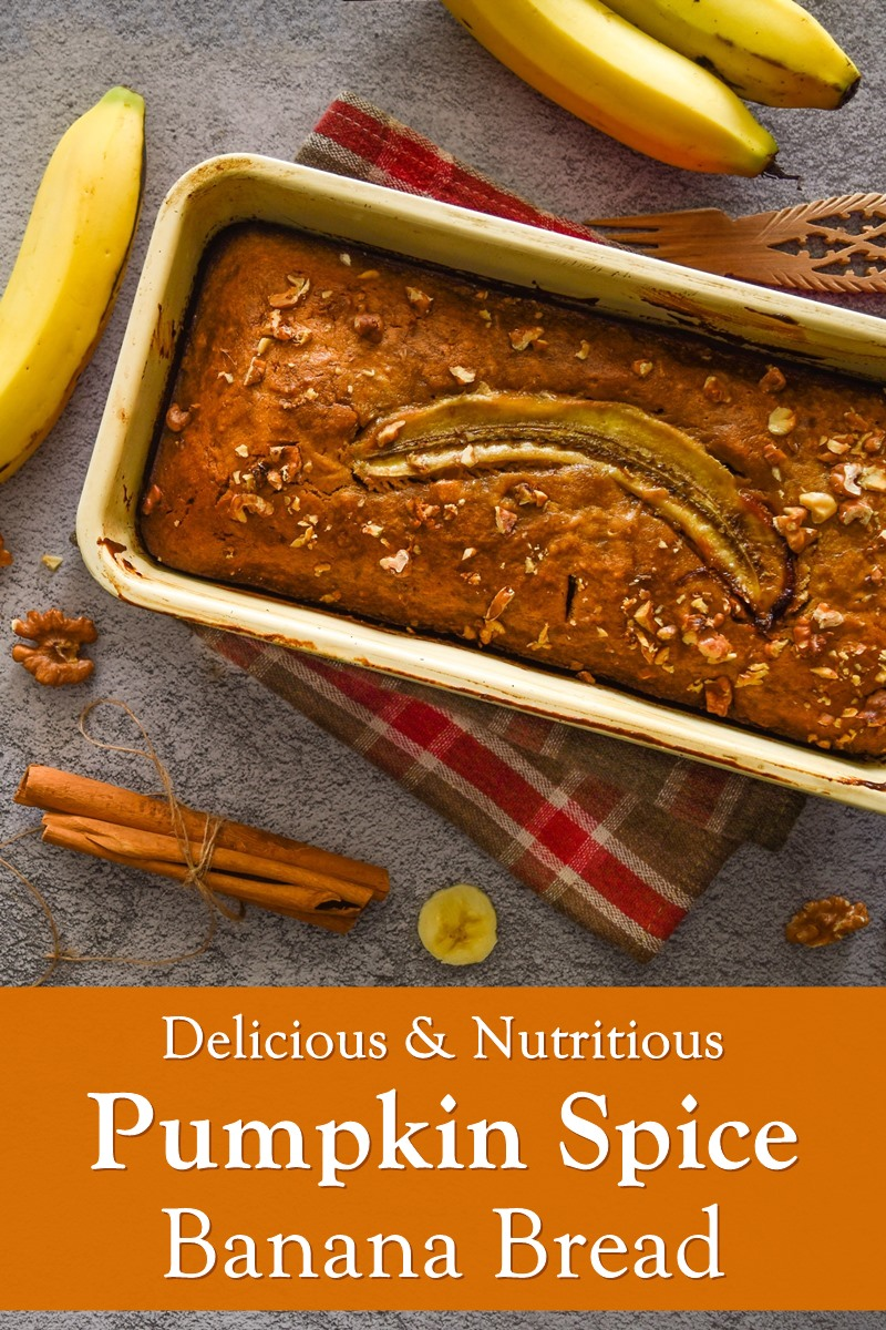 Healthy Pumpkin Spice Banana Bread Recipe created by a Dietitian - naturally dairy-free, soy-free and nut-free optional