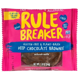 Rule Breaker Brownies and Blondies Reviews and Info - All Vegan, Gluten-Free, and made in an Allergy-Friendly Facility. Healthier Treats made with Chickpeas!