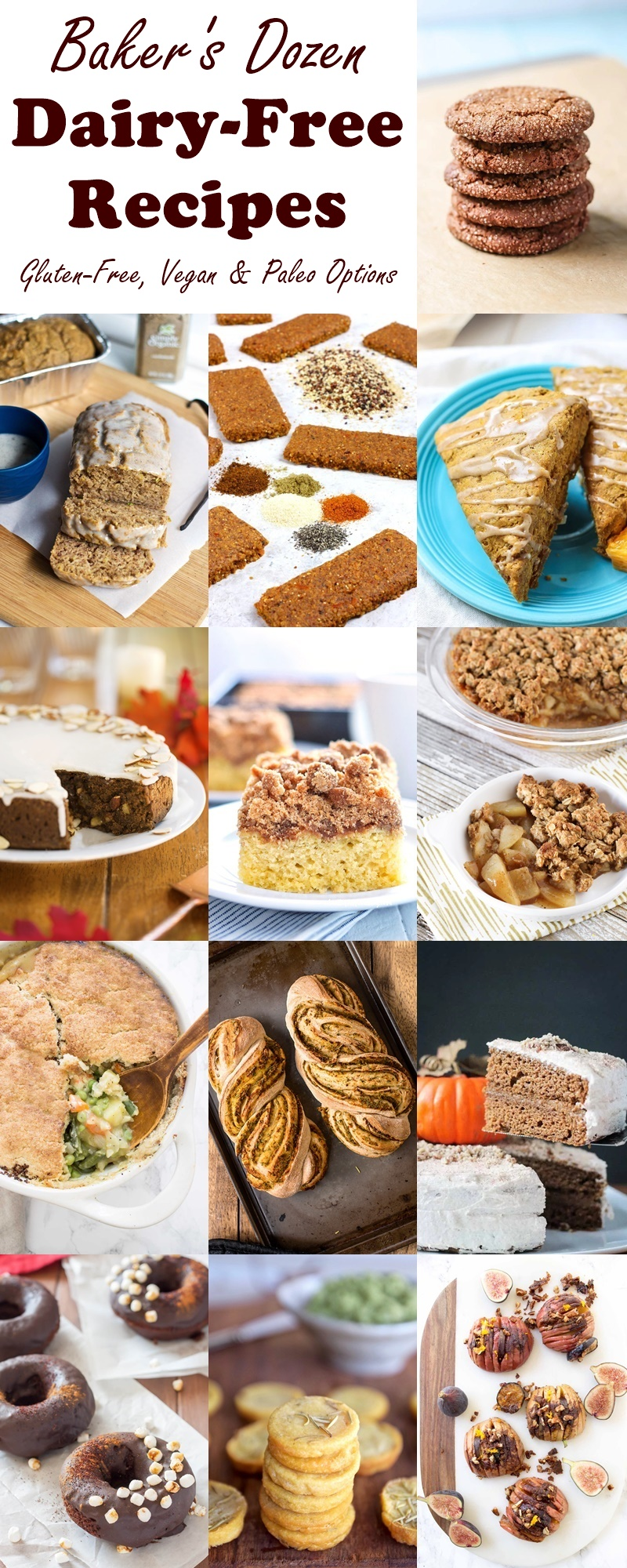 Dairy-Free Bake Off - Baker's Dozen Recipes from the pros! (gluten-free, vegan, paleo and allergy-friendly options)