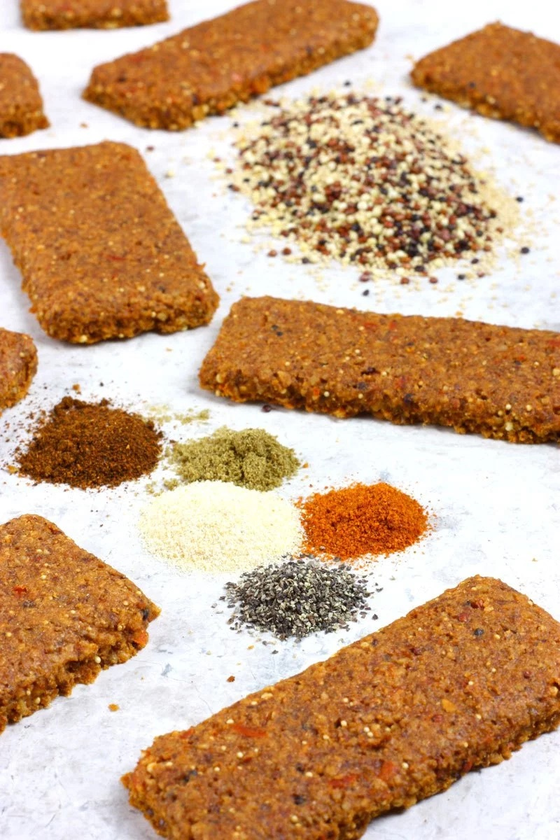Dairy-Free Bake Off Recipe - Red Pepper Bird Seed Savory Snack Bars (vegan, gluten-free)