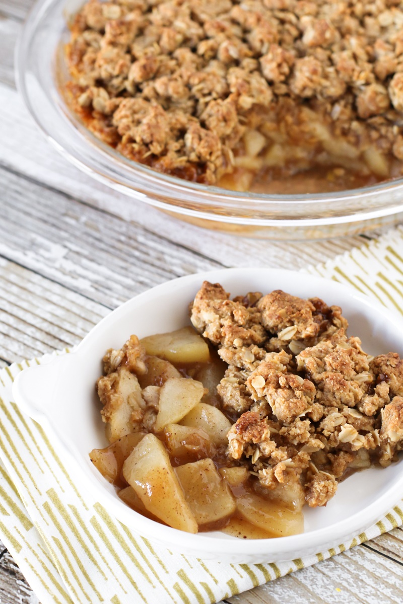 Dairy-Free Bake Off Recipe - Chai Spiced Pear Crisp