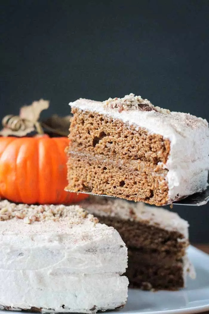 Dairy-Free Bake Off Recipe - Vegan Chai Spiced Pumpkin Layer Cake