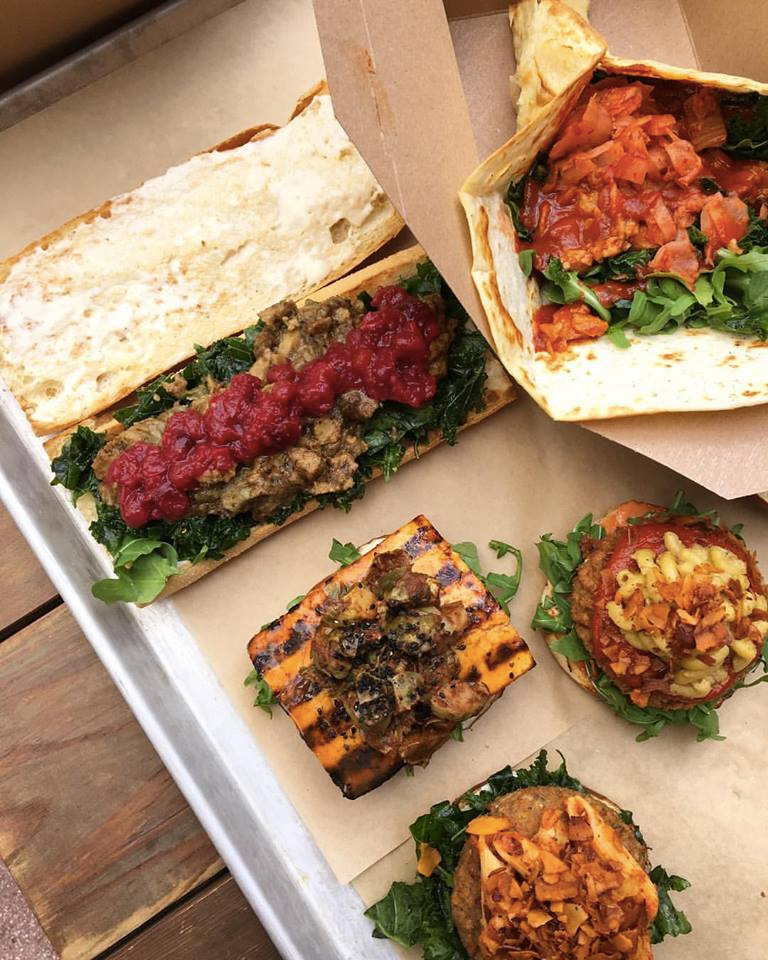 Cinnamon Snail - an all vegan restaurant that's serving up unique sandwiches and over the top decadent donuts in New York City.