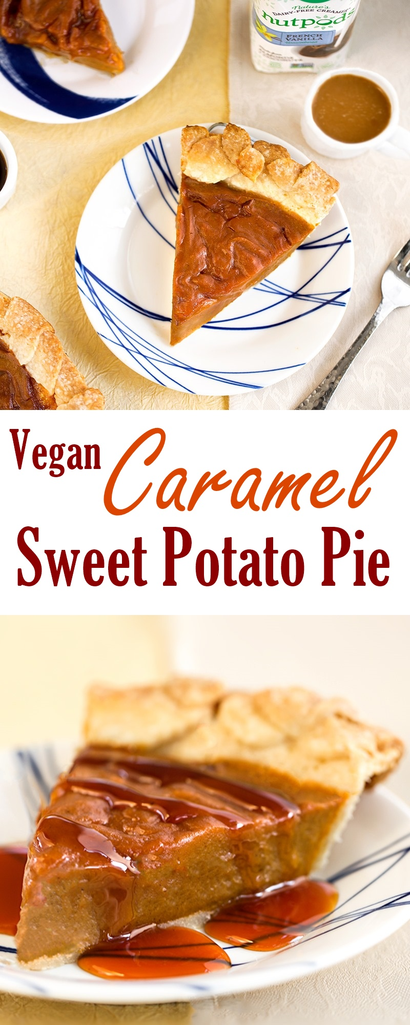 Vegan Caramel Sweet Potato Pie Recipe (Dairy-free, Egg-free)