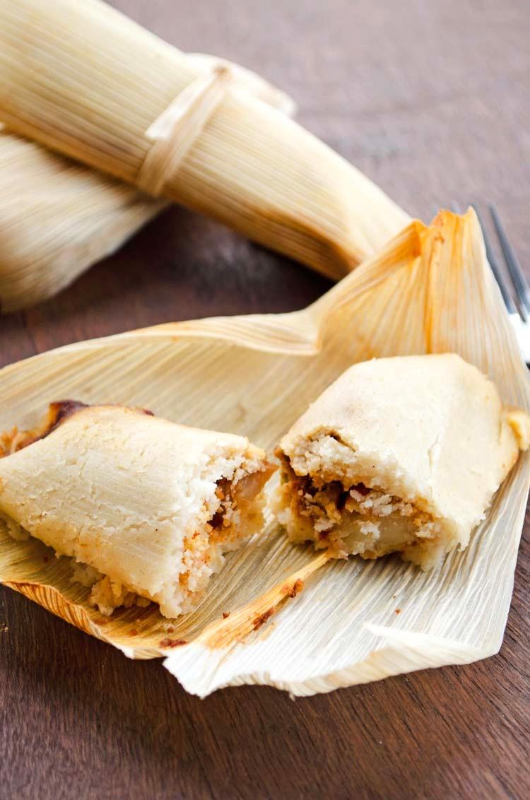 Potato Adobo Vegan Tamales Recipe (gluten-free, too!)