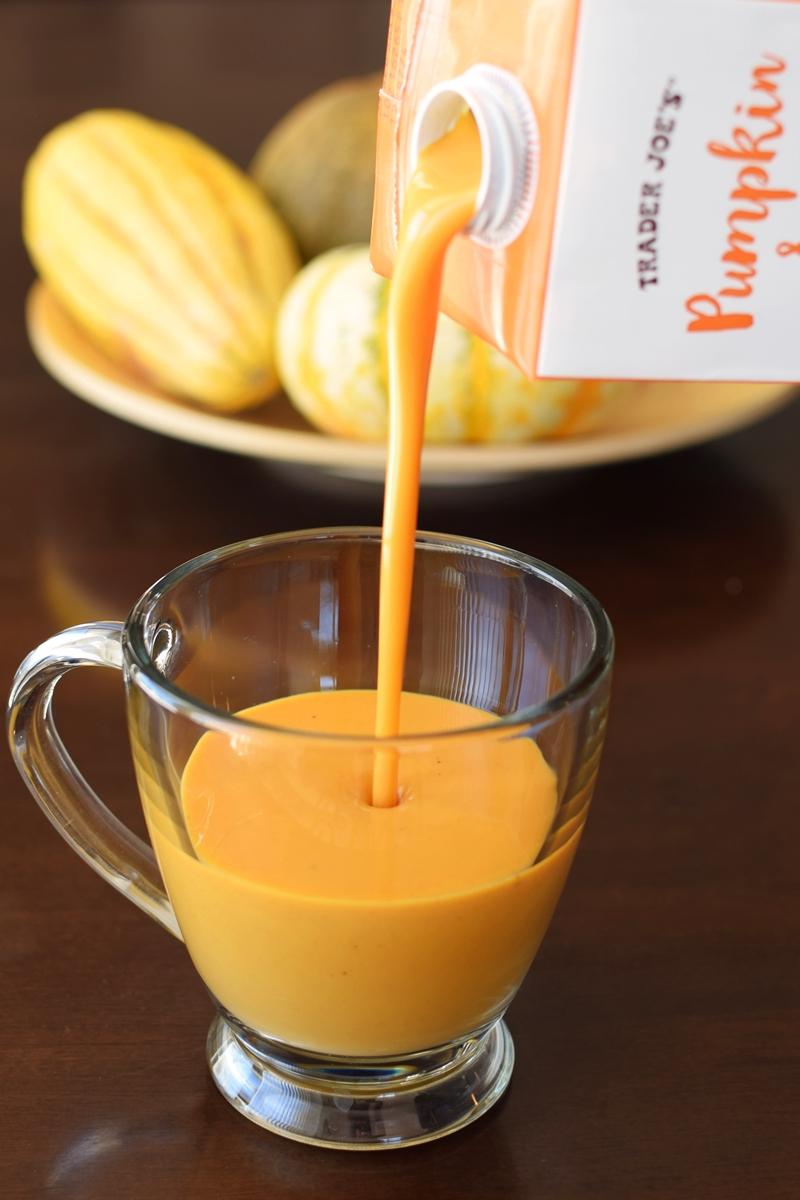 Trader Joe's Pumpkin Spice Almond Beverage (Review) - a dairy-free, vegan, rich & creamy holiday drink