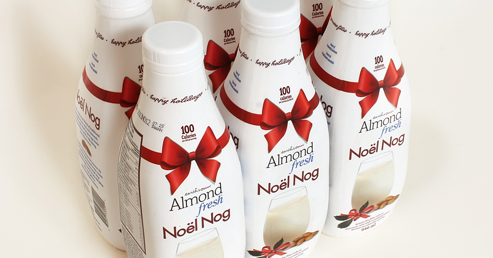 Dairy-Free Holiday Beverages: A Big Round-Up of Vegan Nog, Pumpkin, and Chocolate Mint Drinks (Almond Fresh pictured)