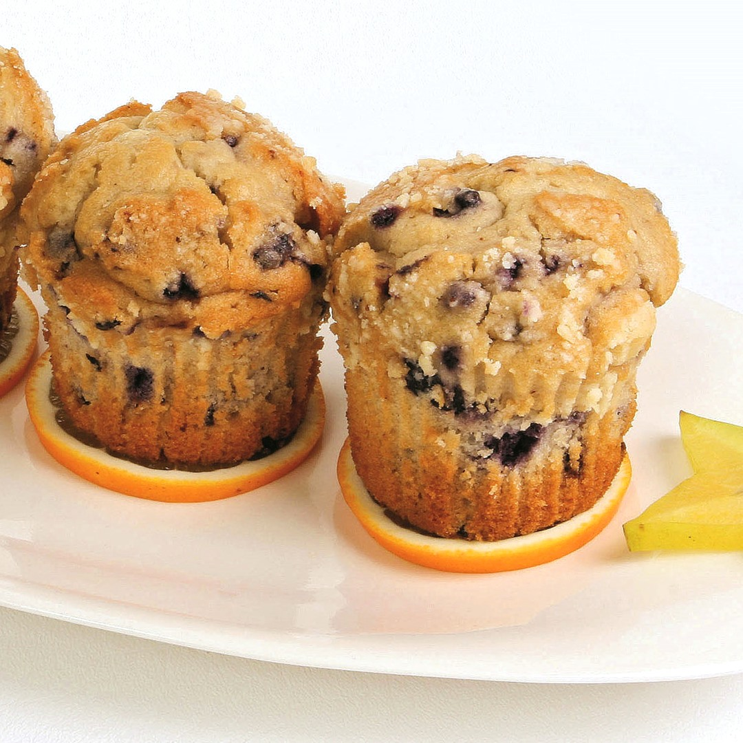 Lemon Blueberry Corn Muffins Recipe (Dairy-Free)