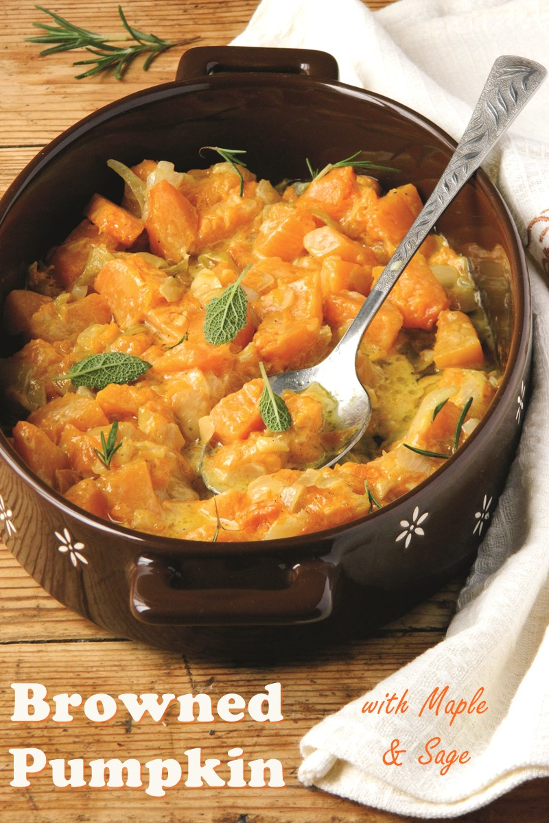 Sauteed Pumpkin with Maple and Sage (Dairy-Free, Gluten-Free, Allergy-Friendly, Vegan Recipe)