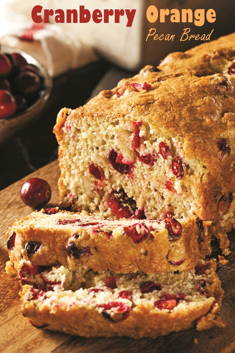 Cranberry Orange Bread Recipe (the pecans are optional!) - dairy-free quick bread for the holidays