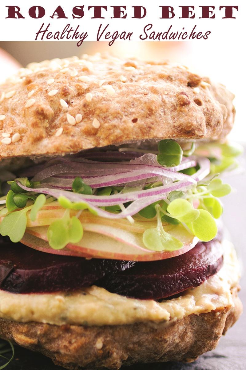Garlic Tarragon Roasted Beet Sandwiches